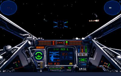 Cabina de un X-Wing.